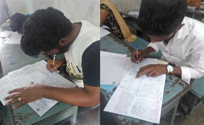 Mass Copying in Open Tenth And Inter Exams West Godavari - Sakshi