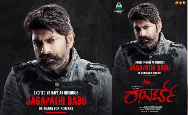 Jagapathi Babu on Baord For Darshan Starrer Roberrt - Sakshi