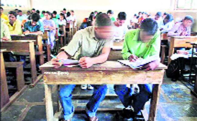 Mass Copying in Open School Exams East Godavari - Sakshi