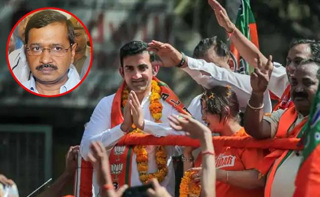 Gautam Gambhir Slams Arvind Kejriwal And Dares To Debate With Him - Sakshi