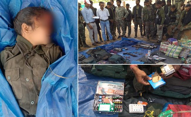 Five Maoist Died In Encounter At AOB - Sakshi