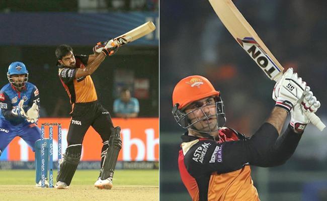 IPL 2019 Eliminator Match Sunrisers Set Target 163 Runs For Delhi - Sakshi