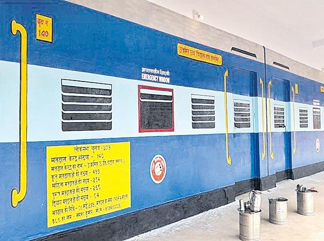 Unique train coach look makes polling booth 140 centre of attraction - Sakshi