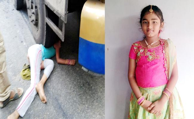 Girl Child Death in Lorry Accident Vizianagaram - Sakshi