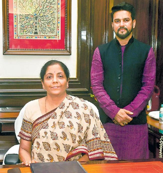 Nirmala Sitharaman becomes second woman Union finance minister - Sakshi