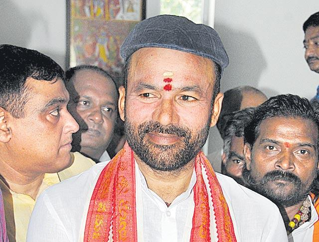 Kishan Reddy is Union Minister of state for Home Affairs - Sakshi