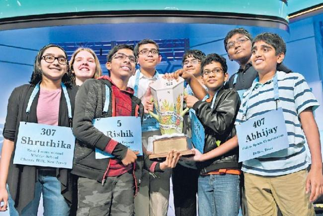 Scripps National Spelling Bee has 8 champions - Sakshi