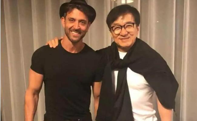 Hrithik Roshan Meets Jackie Chan In China - Sakshi