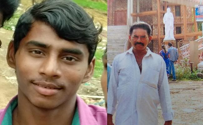 Son kills father and buried beside house in Kakinada - Sakshi