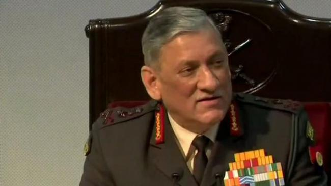 General Rawat Stressed Army Will Continue To Maintain Strict Vigil   - Sakshi