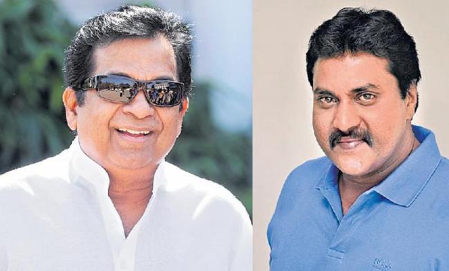 Telugu comedy actors Brahmanandam & Sunil Varma in Sunny leone movie - Sakshi