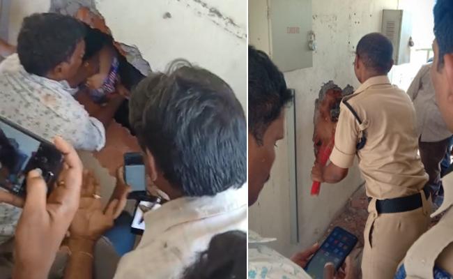Boy saved from Lift in Chanda nagar - Sakshi
