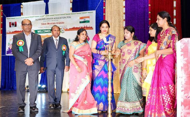 Telangana Farmation day celebrations held in Canda - Sakshi