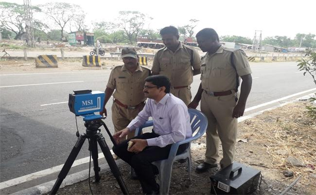 District Transport Officers Landed With Speed Guns To Prevent Accidents - Sakshi