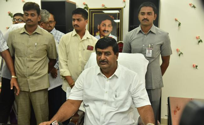 Balineni Srinivas Reddy Avanti Srinivas And Dharmana krishna Das Press Meet After Taking Charge - Sakshi