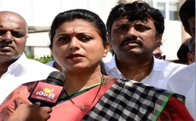 YSRCP MLA Roja Demands Apology To Chandrababu For Formers - Sakshi