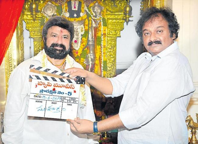 Nandamuri Balakrishna, KS Ravi Kumar, C Kalyan Movie Launch - Sakshi