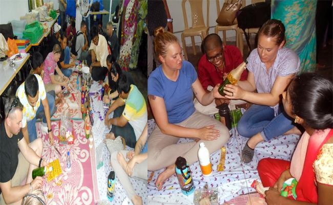 American Tourists Visit Akkayyapalem Visakhapatnam - Sakshi