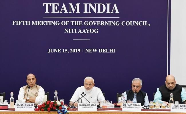 PM Narendra Modi chairs the meeting of the Governing Council of NITI Aayog - Sakshi