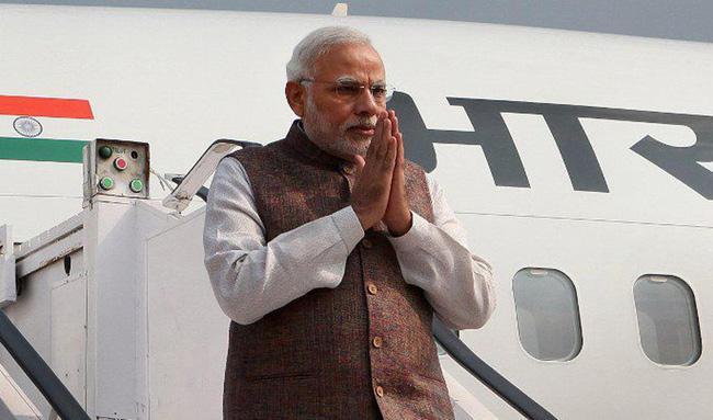 Narendra Modi Not Use Pakistan Airspace On Way To Bishkek - Sakshi