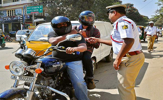 Awareness of Helmet Wearing Prakasam District - Sakshi