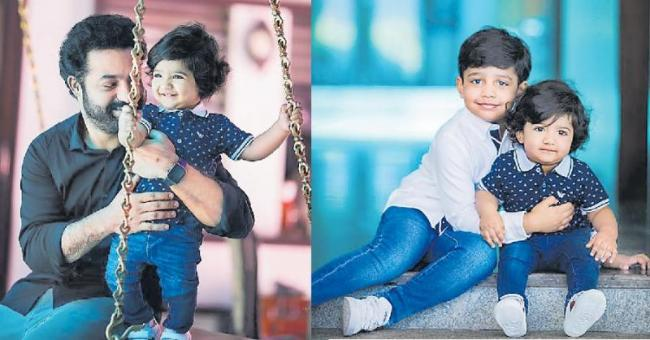 JR NTR Celebrates His Son Bhargav Ram's First Birthday - Sakshi