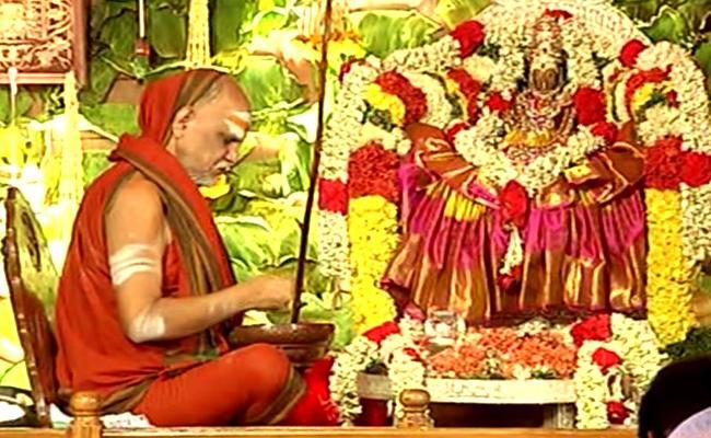 Kiran BalaSwamy Sanyasa Deeksha in Sharada peetham  - Sakshi