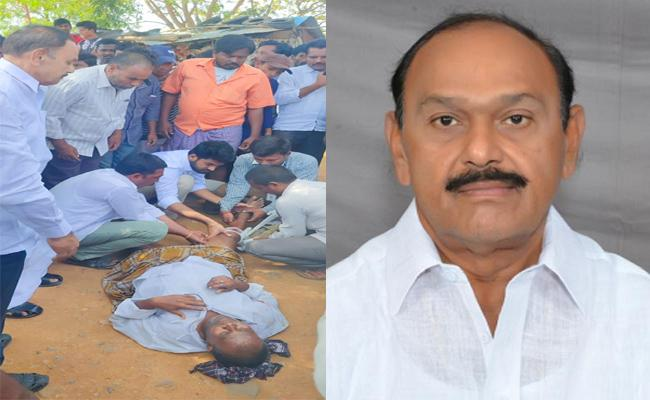 Mydukur Mla Raghurami reddy Helps Road Accident Victim  - Sakshi