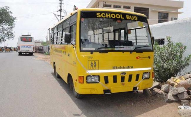 RTA Officers Attack On Fitness Buss Rangareddy - Sakshi