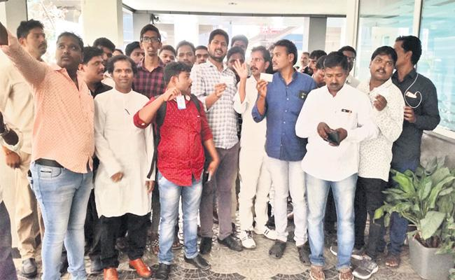 Drivers Association Protest Against Car Owner in Hyderabad - Sakshi