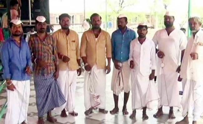 Grooms Hostages in Temple Karnataka - Sakshi