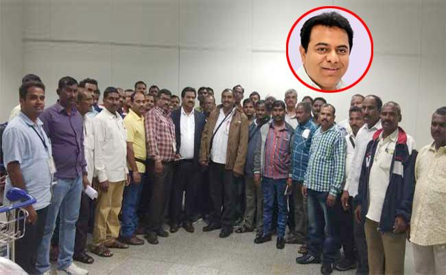 Telangana Labour Reacher To Hyderabad From Saudi - Sakshi