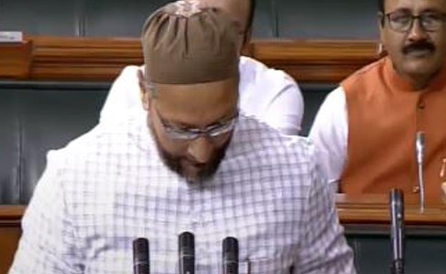 Owaisi Responds On Jai Sri Ram Sloganeering In Lok Sabha - Sakshi