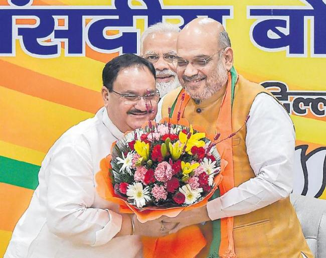 JP Nadda Appointed BJP Working President - Sakshi
