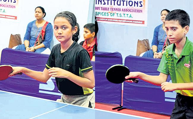 Jatin, Pragyansha reign supreme in Cadet category - Sakshi
