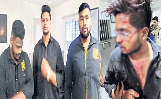 PUB Bouncers Attack on 11 Members in Banjarahills - Sakshi