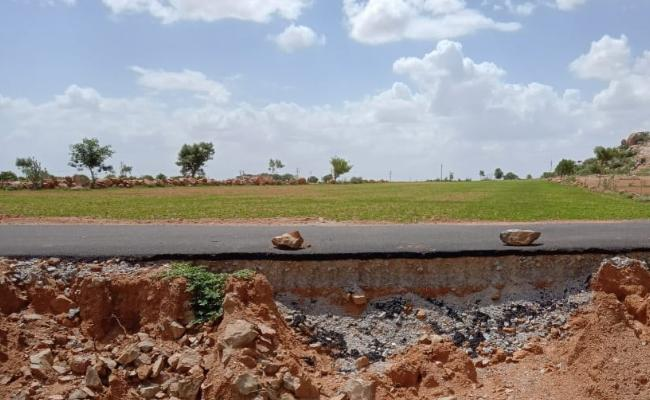 Quality Nill in Road Construction - Sakshi