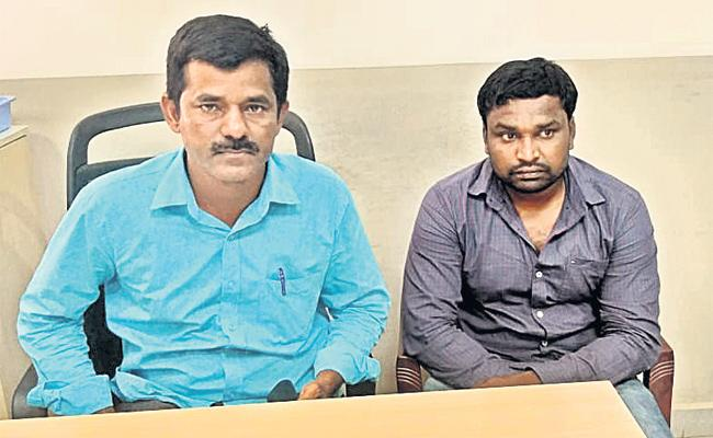 SI And Police Constable Arrest in Bribery Demand - Sakshi