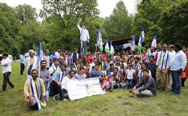 YSRCP Victory Celebrations AT Maryland - Sakshi