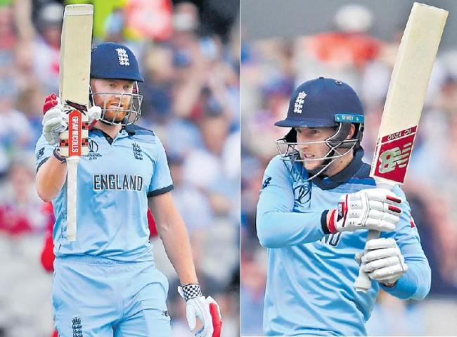 England beat Afghanistan by 150 runs at Cricket World Cup - Sakshi