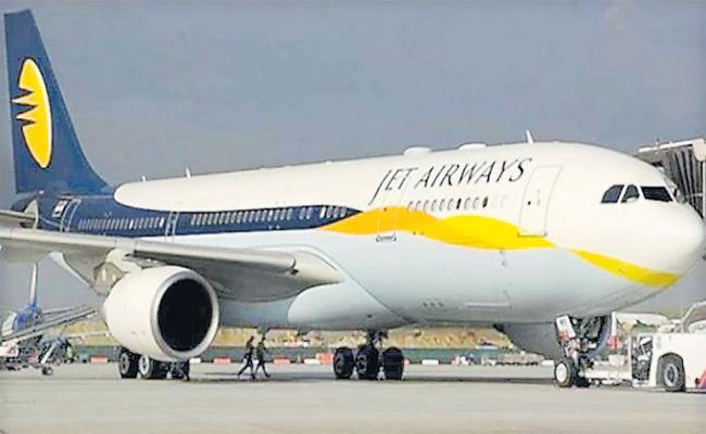 Jet Airways Infront of NCLT - Sakshi