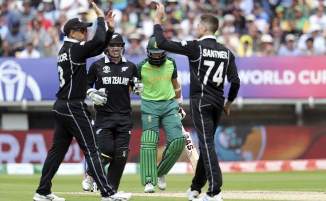 World Cup 2019 South Africa Set 242 Runs Target For New Zealand - Sakshi