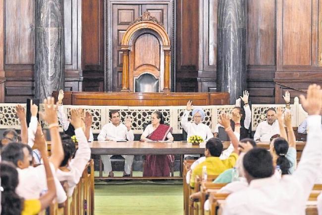 Sonia Gandhi re-elected as leader of CPP - Sakshi