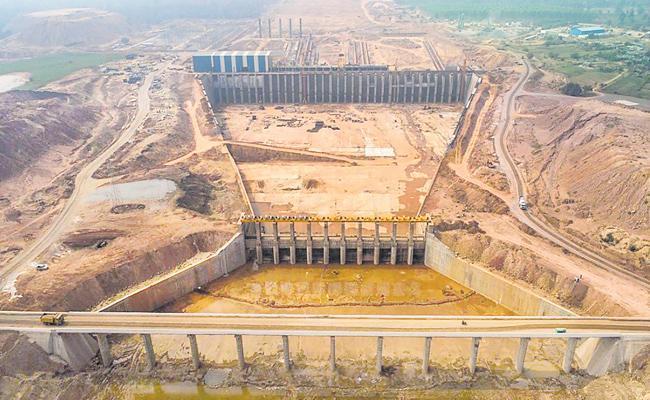 Security Tightened At Kaleshwaram Lift Irrigation Project Over Inaugural Function - Sakshi