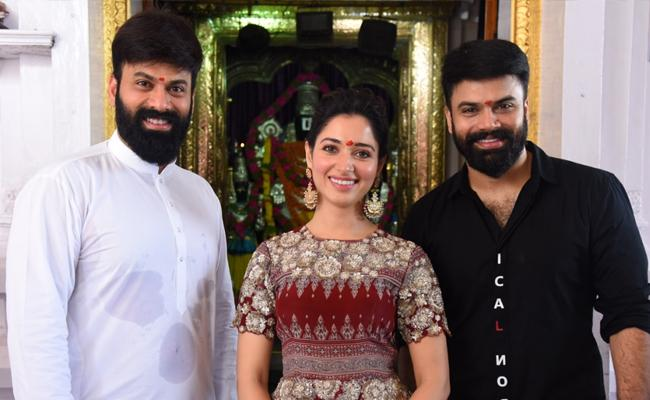 Tamannaah and Director Ohmkar Raaju Gari Gadhi 3 Launch - Sakshi