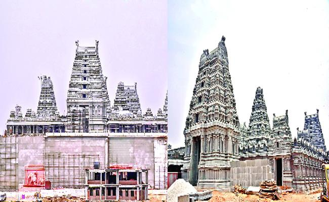 80 Percent Of Yadadri Temple Works Completed - Sakshi