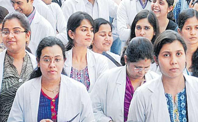 Medical Services Frozen With Junior Doctors Strike In Telangana - Sakshi