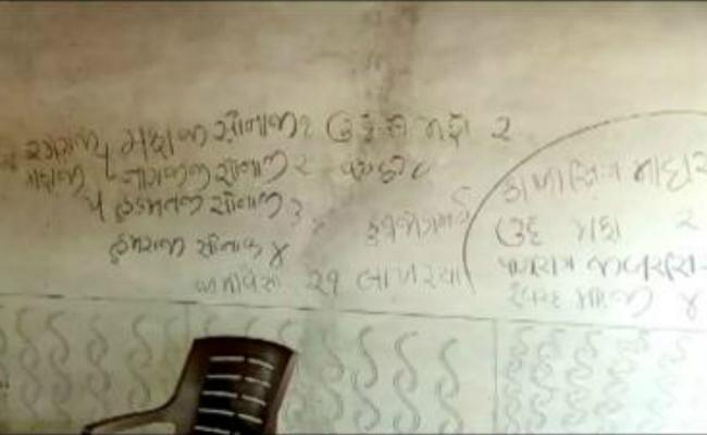 Moneylender Kills Gujarat Family Scribbles Reason on House Wall - Sakshi