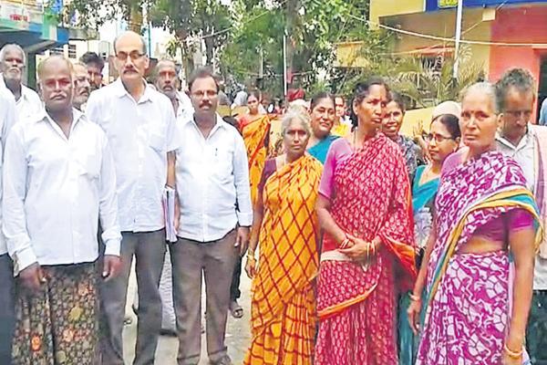 Above 17 acres was occupied by Kodela Sivaram - Sakshi