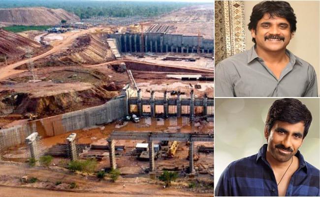 Nagarjuna And Ravi Teja Tweets On Kaleshwaram Project - Sakshi